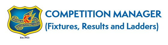 Canterbury and District Soccer Football Club Competition Fixtures, Results and Tables