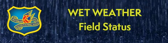 CDSFA Official Wet Weather Field status information