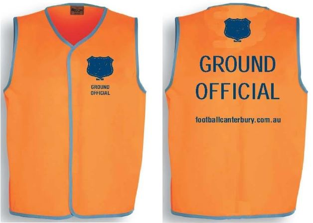 CDSFA Ground Official Vests